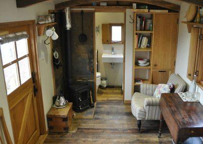 upland sheperd hut inside